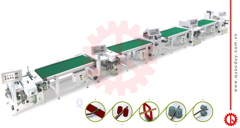 Dây chuyền máy chà nhám chân ghế tự động SM-290 | Quốc Duy