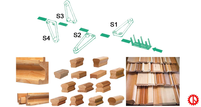 Máy chà nhám cạnh gỗ 4 mặt DAE-S4F | Quốc Duy