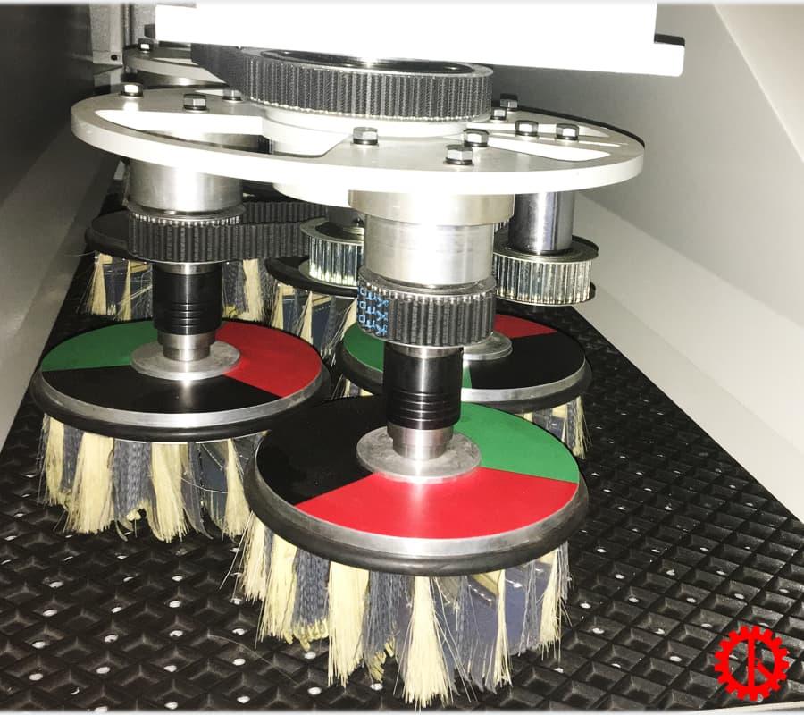 Trục chà nhám đĩa máy chà nhám chổi 9 hàng trục 1300mm SM-1300-9S | Quốc Duy