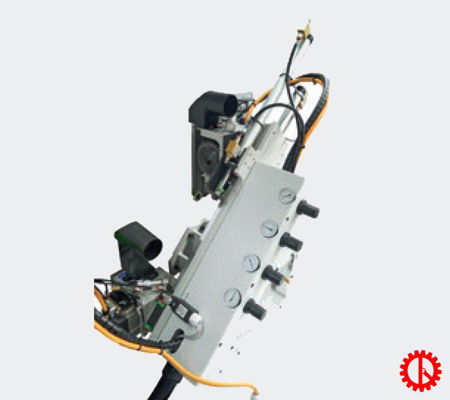 Bộ phận xén đầu đuôi máy dán cạnh thẳng tự động 7 chức năng JADE 225   Quốc Duy