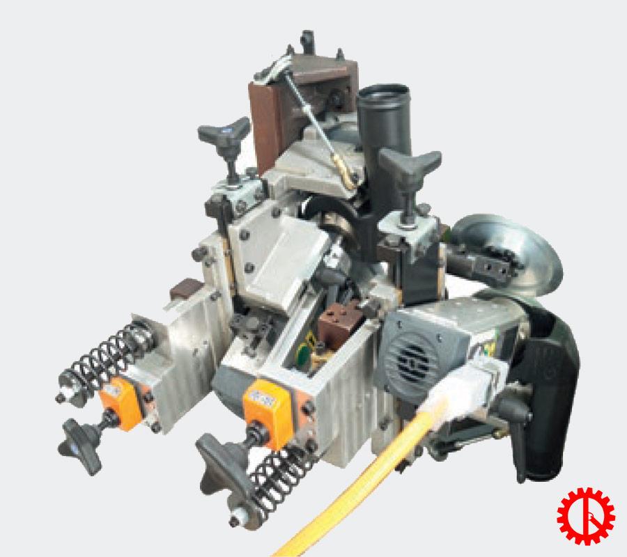 Bộ phận xén trên dưới máy dán cạnh tự động phay cạnh trước JADE 240 | Quốc Duy
