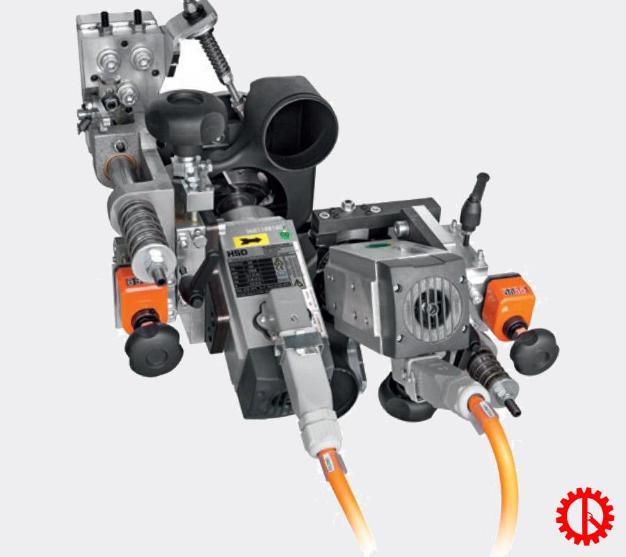 Bộ phận xén trên dưới máy dán cạnh tự động phay trước cnc AKRON-1100 | Quốc Duy