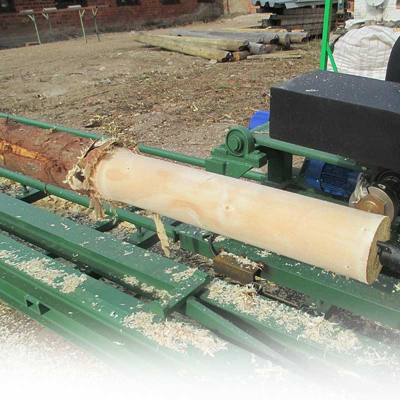 Hệ thống máy bóc vỏ cây