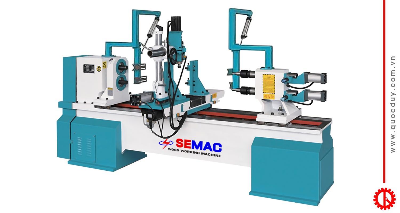 Máy tiện gỗ CNC 2 trục tự động siêu nhanh