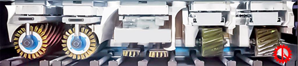 Trục máy chà nhám chổi thùng 6 trục