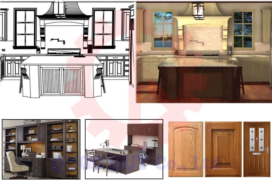 Sản phẩm của dây chuyền sản xuất nội thất gỗ công nghiệp