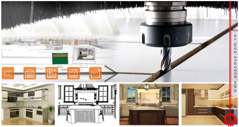 Dây chuyền sản xuất nội thất từ ván ép | Quốc Duy