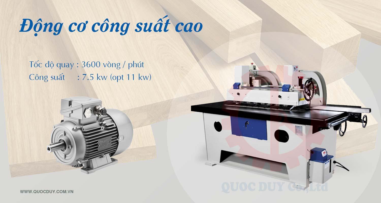 dong co cong suat cao may cua rong ripsaw luoi duoi dai loan Máy rong gỗ công nghiệp cạnh thẳng hiệu quả nhất 2021